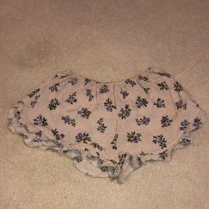 Brandy Melville Floral Dolphin Shorts